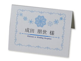 四季 クリスタルスノー 席札 印刷なし セット 手作り キット ペーパーアイテム 結婚式 披露宴 ウエディング 雪 冬