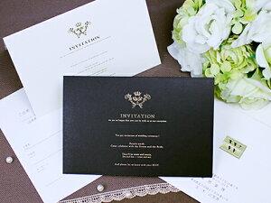 エレガント 招待状 印刷なし セット 手作り キット ペーパーアイテム 結婚式 披露宴 ウエディング
