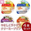 やさしくラクケア クリーミープリン 4種セット(4種類各1個)[腎臓病食/低たんぱく食品/高カロリー]