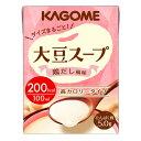 介護食 KAGOME 大豆スープ 鶏だし風味 100ml×18本【高カロリー】