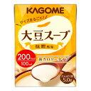 介護食 KAGOME 大豆スープ 味噌風味 100ml×18本【高カロリー】