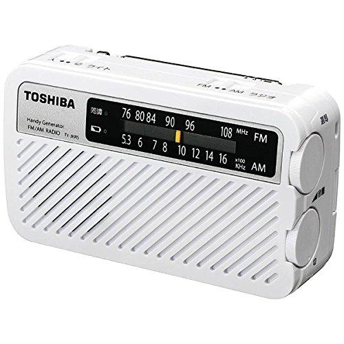 東芝 TOSHIBA ラジオ AM FM 手回し TY-JKR5(W)