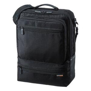 3WAYビジネスバッグ 縦型 通勤用 BAG-3WAY23BK [15.6型ワイド対応 ブラック]