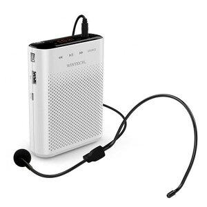 ポータブルハンズフリー拡声器 ホワイト WINTECH KMA-210 台風 防災グッズ