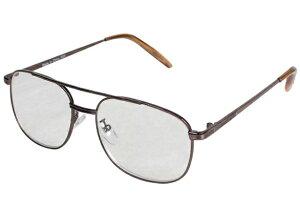 老眼鏡 エニックス メンズ +3.0 細縁 ウェリントン グレー エニックス ERI-01+3.00