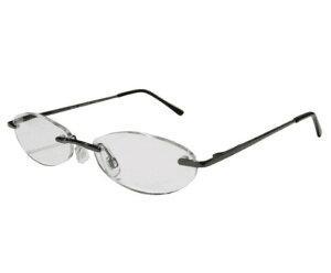 老眼鏡 シニアグラス ふちなしタイプ 4.0度 エール AF101S 4.0