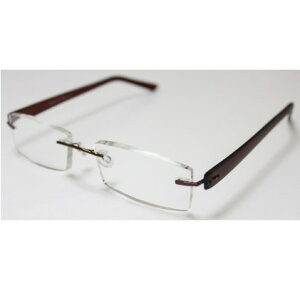 老眼鏡 シニアグラス ふちなしタイプ 3.0度 ブラック エール AF105S 4.0