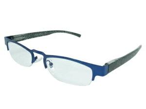 老眼鏡 シニアグラス ハーフタイプ 3.0度 ブルー エール AH107S 3.0