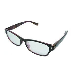 老眼鏡 シニアグラス ポリカーボネイト 3.0度 パープル エール AP127S 3.0