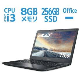新品 office無し ノートパソコン Windows10 Pro 64bit Corei3 -7020U SSD 256GB 8GB メモリ 15.6型 フルHD Acer TMP259G2M-F38U