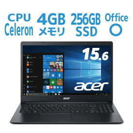 新品 ノートパソコン Office付き Windows10 SSD256GB CeleronN4000 4GB 15.6型 Acer Aspire3 A315-34-F14U/KF