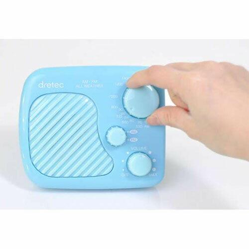 DRETEC 防滴ラジオ お風呂で聴ける レジャー アウトドアにも大活躍 AM/FM 防滴ラジオ ブルー PR-320BL