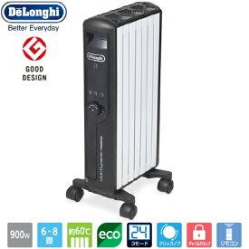 デロンギ DeLonghi マルチダイナミックヒーター 【6〜8畳用】「空気がキレイ」「乾燥しない」「燃料補充が不要」「安全性」「部屋を一定温度に保つ」「呼吸音よりも静か」「すぐに暖まる速暖性」ピュアホワイト+マットブラック DeLonghi MDHU09-BK