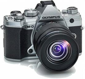オリンパス 一眼レフカメラ 軽量 OM-D E-M5 Mark 12-45mm F4.0 PRO キット シルバー