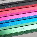 コンサイス アルミフラットスケール 12cm定規 直線定規 ものさし かわいい カラフル 金属 文房具 デザイン文具 事務…