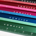 コンサイス アルミフラットスケール 15cm定規 物差し ものさし カラフル かわいい デザイン文具 文房具 金属 事務用品…