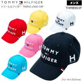 TOMMY HILFIGER GOLF (トミー ヒルフィガー ゴルフ) 3段ロゴキャップ THMB903F TRIPLE LOGO CAP【B-ONE】