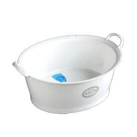 洗濯桶 12L 底栓付き ホワイト