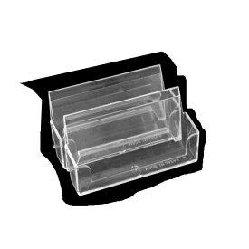 カードスタンド 3.6×9.8×高さ4.8cm クリアー 2個入