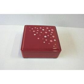 重箱 朱 13.5×13.5×高さ5.5cm