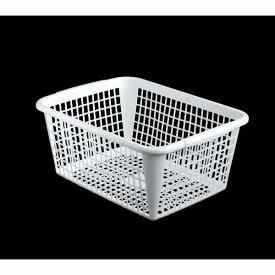 バスケット A4サイズ収納可能 40×30×高さ17.5cm ホワイト