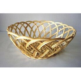 竹編みフルーツバスケット丸型