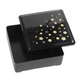 重箱 黒 13.5×13.5×高さ5.5cm