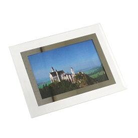 フォトフレーム ガラス製 L版サイズ対応 フラットタイプ 13.5×17.5cm [種類指定不可]