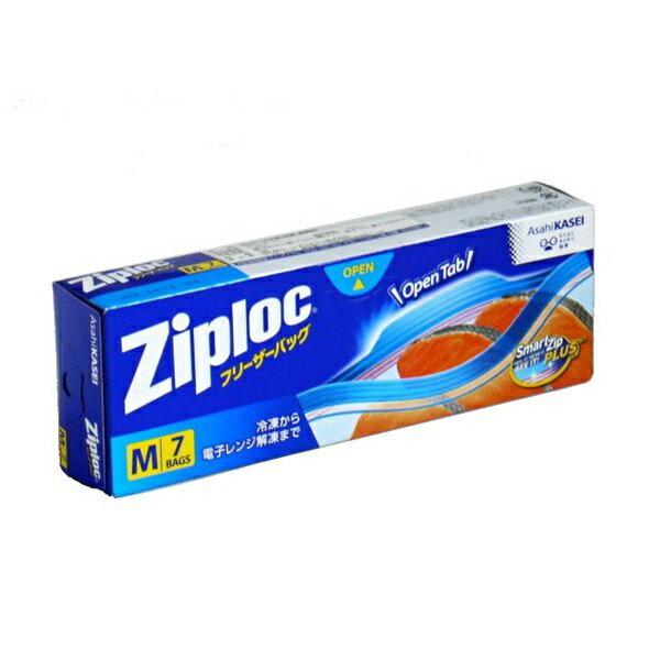 ジップロック チャック付袋 冷凍用 Mサイズ 7枚入