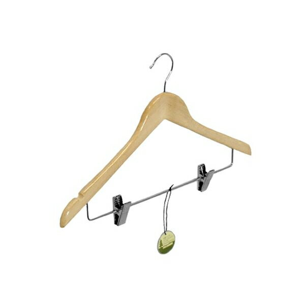 木製ハンガー ピンチ付 ナチュラル