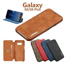 Samsung Galaxy S8+ ケース 手帳型 Galaxy S8 ケース ギャラクシーS8 おしゃれ スマホケース ギャラクシー S8+ ケース カバー case スタンド カード収納 多機能 お財布 GalaxyS8 ケース 薄型 軽量 シンプル ビジネス GalaxyS8ケース Galaxy S8Plus 手帳型カバー