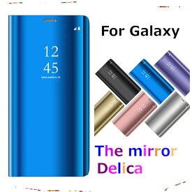 Samsung Galaxy Note9 ケース S9 GalaxyS9+ カバー S8 S8Plus スマホケース Note8 s7edge 手帳型 スタンド機能 スマホカバー 半透明 ミラー ハーフミラー 鏡 かわいい おしゃれ サムスン ギャラクシー s9ケース 機能的 スマート シンプル 衝撃吸収 スリム メッキ 鏡面仕上げ