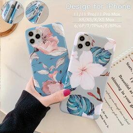可愛い iPhone 11 ケース アイフォン11ケース アイフォン iPhone 11Pro 11ProMax カバー きれいな花柄 iPhone XR X XS XsMax ケース iPhone 8 8Plus 7 7Plus ケース おしゃれ 手触りより アイフォン11pro ケース 耐衝撃 人気 スマホカバー