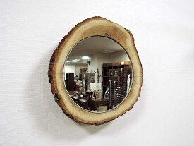 ナチュラルウッドミラー オーク ウォールミラー 壁掛け鏡 鏡 木製 壁掛け 原木 無垢 壁掛け インテリア スタンド オブジェ ナチュラル 大人 おしゃれ アジアン雑貨 北欧