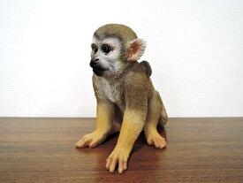リスザル コインバンク 猿の置物 さる サルの置物 オブジェ 置物 貯金箱 リアル アニマル 動物 おしゃれ かわいい インテリア ペット クラシック アジアン
