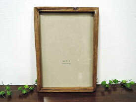 オールドチーク フォトフレーム A4 ナチュラル 壁掛け チーク材 古材 天然木 おしゃれ インテリア アンティーク クラシック オールド 額縁 アジアン雑貨