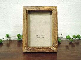オールドチーク フォトフレーム フォトL photo L判 ナチュラル 壁掛け チーク材 古材 天然木 おしゃれ インテリア アンティーク クラシック オールド 額縁 アジアン雑貨
