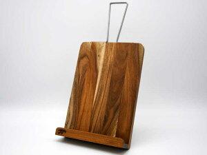 アカシア レシピスタンド トール ホルダー 木製 ディスプレイ タブレット iPad ブックスタンド 本立て 飾り インテリア シンプル おしゃれ アジアン雑貨