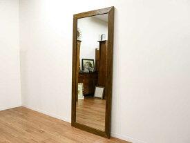 ミラー 鏡 チーク 無垢 幅75cm 高さ180cm 姿見 全身 アジアン 古木 オールドチーク 北欧 木製 木枠 チーク材 天然木 アジアン家具【カバロ】