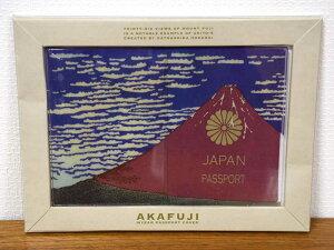 パスポートケース Akafuji 赤富士 10年用 パスポートカバー 日本 赤 おしゃれ かっこいい トラベルグッズ 和風 大人 携帯用 輸入雑貨