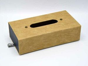 フォルダブル ティッシュボックス ベージュ ナチュラル レザー調 ティッシュケース かっこいい 携帯用 折り畳み 壁掛け 卓上 おしゃれ 大人 アンティーク風 ナチュラル 北欧 アジアン