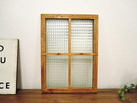 ガラスウィンドウ A フレーム 飾り窓 木製 ウッド 壁飾り ナチュラル アンティーク オールド おしゃれ アジアン 北欧