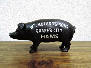 ピッグバンク ブラック ブタの貯金箱 豚 黒 オブジェ アイアン おしゃれ インテリア 北欧 アジアン雑貨