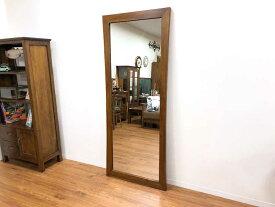 ミラー 鏡 チーク 無垢 幅75cm 高さ180cm 姿見 全身 アジアン 北欧 木製 木枠 チーク材 天然木 アジアン家具【コルベッティ】