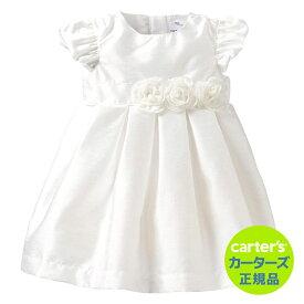 \SALE/安心のカーターズ正規品 (Carter's)清楚なお嬢様度満点!パーティで注目されちゃう♪ベビー用ロゼットドレス(ホワイトフラワー)【ドレス,フォーマル,結婚式,ベビー,パーティ】