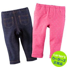 カーターズ (Carter's)パンツ2枚組セット(ピンクドット&デニム) bodyrec