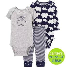 【残り3M,9Mのみ】カーターズ 【Carter's】人気のボディースーツも入った便利でお得な3点セット(Mommy Loves Me)コットンオール 出産祝い ボディースーツ パンツ ロンパース 男の子 ボーイ