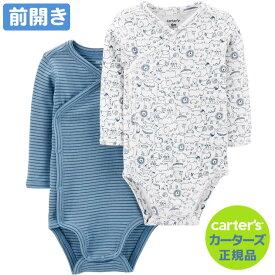 カーターズ 前開き 長袖 2枚組 ロンパース(Koala デザイン)ボディスーツ ベビー 肌着セット ボディースーツ Carter's 下着 肌着 新生児 女の子 男の子 冬