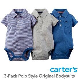 【残り9M,12Mのみ】カーターズ(Carter's)襟付3枚組ボディースーツ