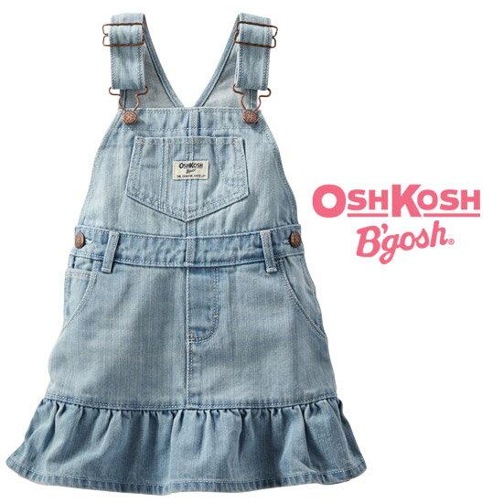 \SALE/オシュコシュ【OshKosh】お洒落な裾フリル切替♪デニムジャンプスカート*返品交換不可